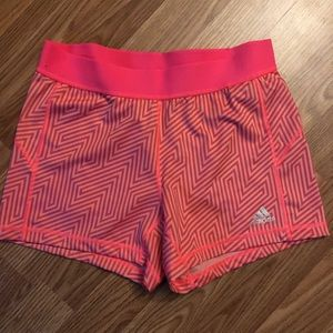 Adidas pink compression shorts